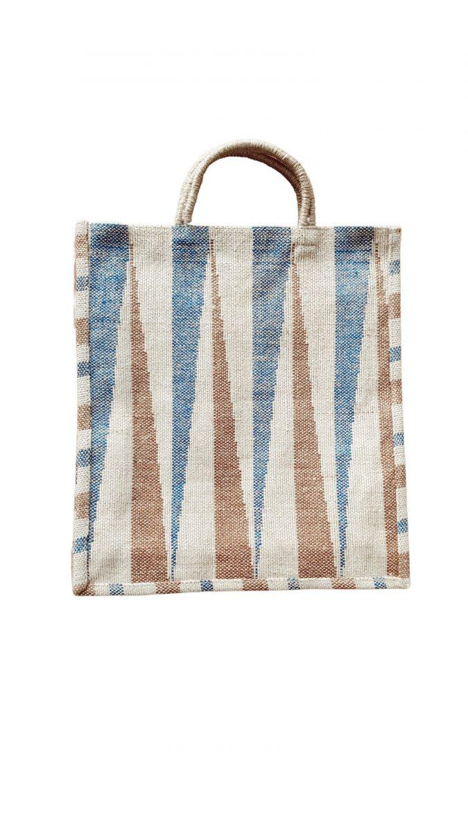 bolso azul y arena maison bengal