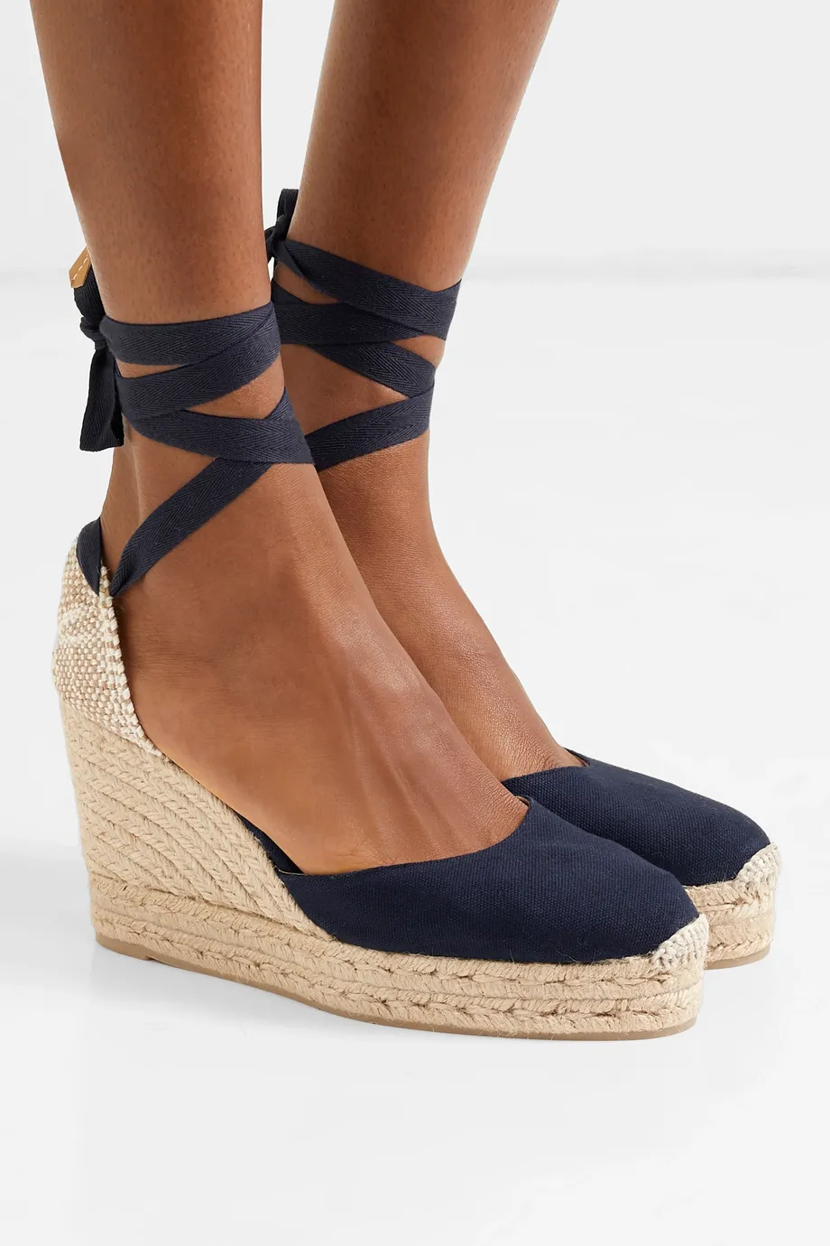 Carina 100 canvas wedge espadrilles