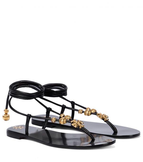 Sandalias Capril de piel adornadas