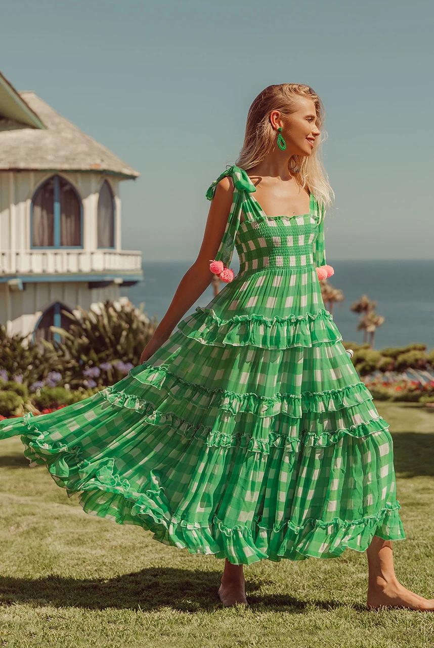 Vestido Berenice color lima