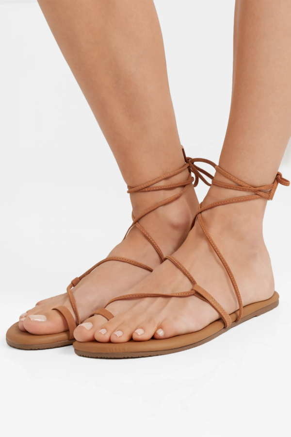 Tan Jo suede and leather sandals _ TKEES _ NET-A-PORTER