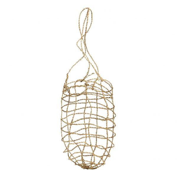 Canasta para colgar de hoja de palmera