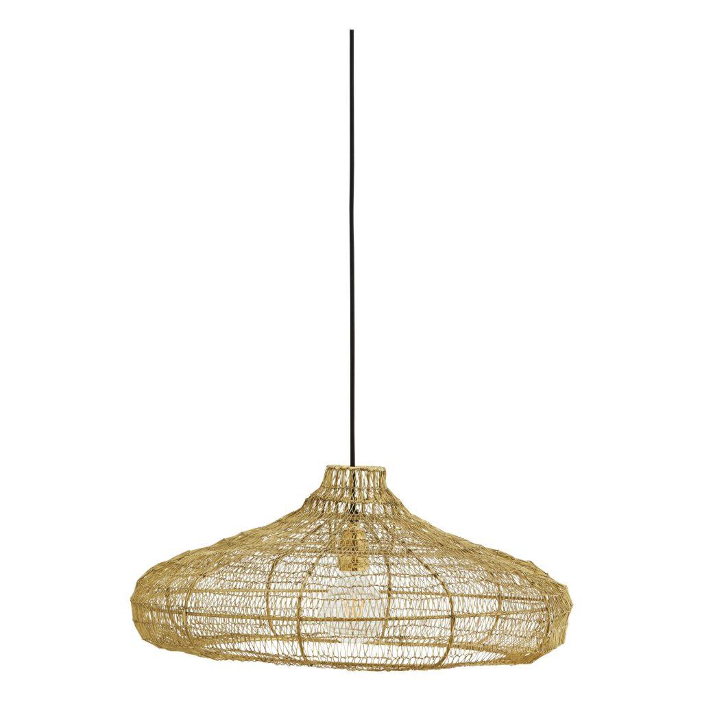 Lámpara de techo de metal Dorado